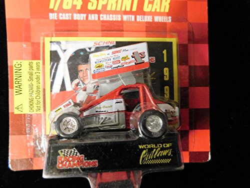 Sprint Car World of Outlaws Marlon Jones 1997 Red Checkered Flag Card 1:64 scale die-cast Racer by Racing Champions