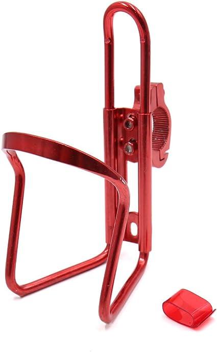 sourcing map Porta Vasos Jaula de Montaje Metal Rojo Ciclismo ...