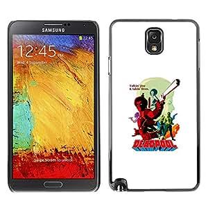 GIFT CHOICE / SmartPhone Carcasa Teléfono móvil Funda de protección Duro Caso Case para Samsung Note 3 N9000 /DEADPOL SUPERHERO/