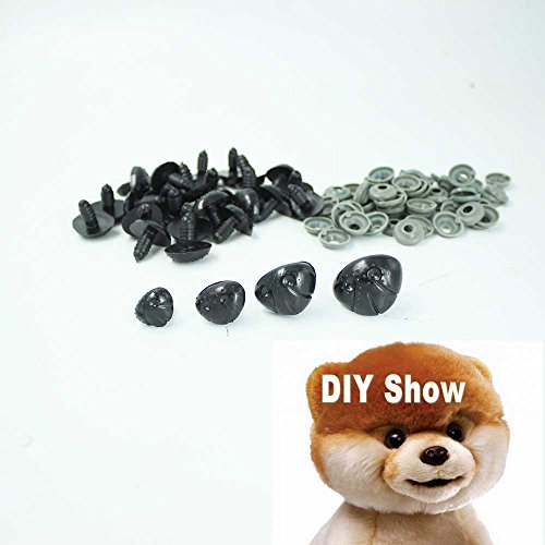 (50pcs Black Plastic Noses for Teddy Bear,puppy,doll,stuffed Animal Toy (23*18mm) )
