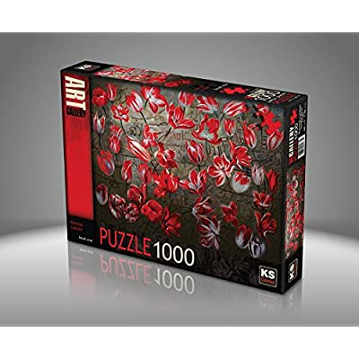 Puzzle 1000 Pices Red Tulips