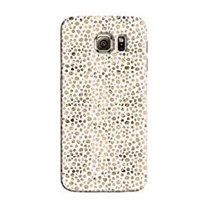 Cover It Up - Brown White Pebbles Mosaic Galaxy S6 Hard Case