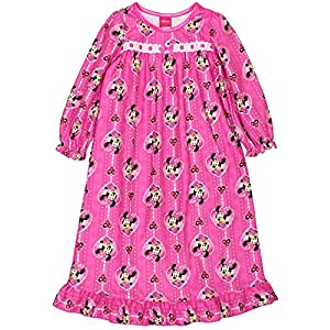 Disney Minnie Mouse Toddler Girls Flannel Granny Gown Nightgown Pajamas