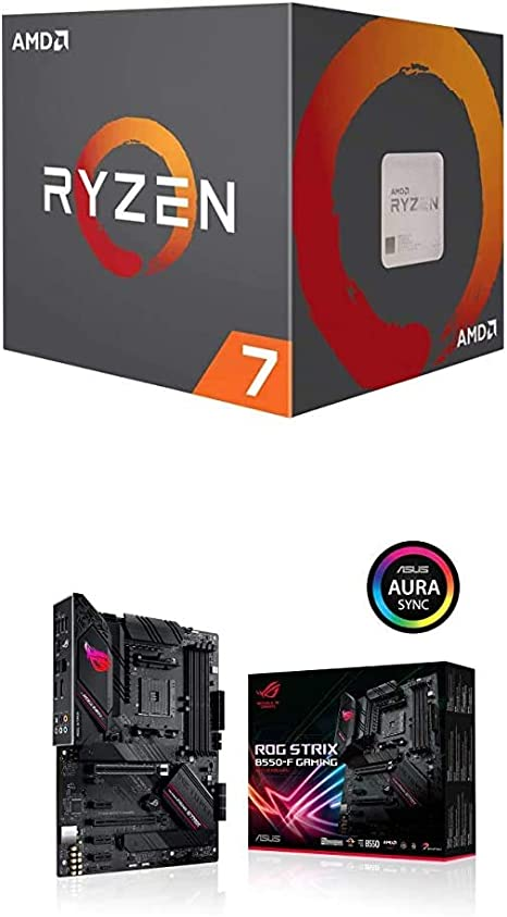 Amazon Com Amd Ryzen 7 3800x Cpu Asus Rog Strix B550 F Gaming Computers Accessories