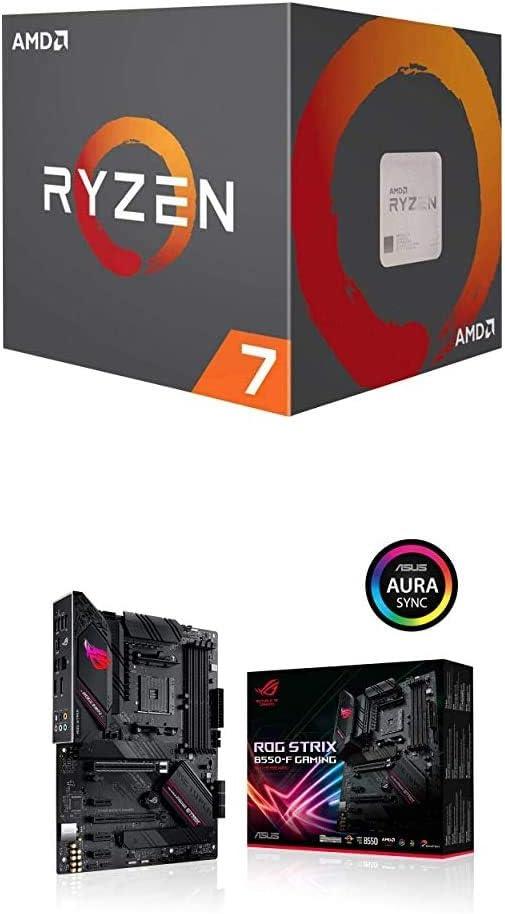 Amazon Com Amd Ryzen 7 3800x Cpu Asus Rog Strix B550 F Gaming Computers Accessories