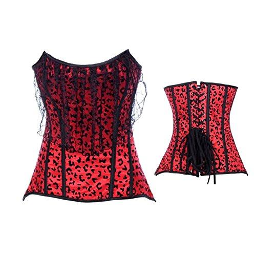 E-Girl FOB2847 Mujer Rojo Lencería y ropa interior Corsés y bustiers,S