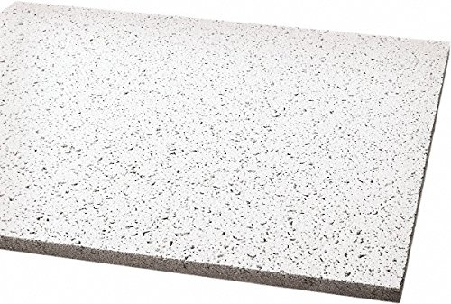 24 Inch Long x 24 Inch Wide x 5/8 Inch Thick, 0.55 NRC, Wet Formed Mineral Fiber Acoustic Ceiling Tile by Armstrong World
