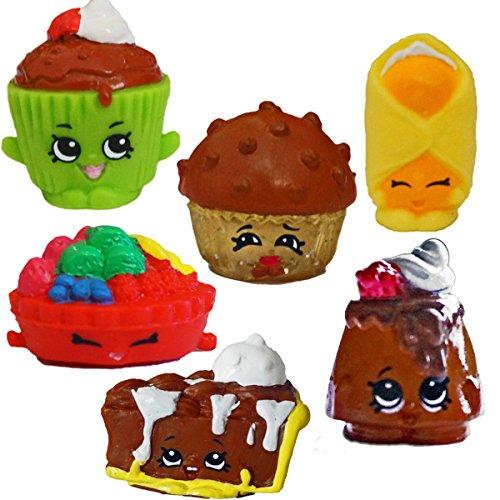 SHOPKINS Season 2 BAKERY Set of 6 - Mary Muffin, Cupcake Chic, Fifi Fruit Tart, Choco Lava, Danni Danish, Pecanna Pie, Genuine (Lava Cupcakes)