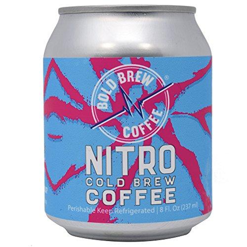 Nitro Cold Brew Coffee - Fearless Brew Coffee, Single-Origin Colombian Coffee | Natural Energy | Sugar, Gluten & Dairy Free, 0 Calories, 180 MG Caffeine | 8oz Can - (6 Put away)