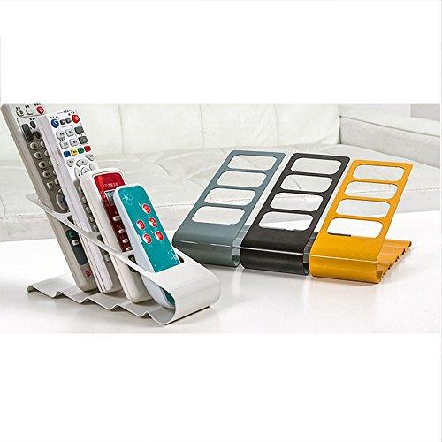 Remote Control Organizer, Space Saving Metal TV Remote Control Storage Organizer/Caddy/Rack/Organizer, Black Storage Organizer Rack for Remote Holde/TV Remote Control(black)