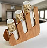 airgoesin Paper Cup Lid Holder Dispenser Wood Organizer for Home Party or Coffee Shop Counter Cafe