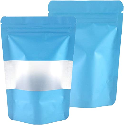 Matte Metallised Stand Up Pouches Mylar Food Grade Zip Lock Heat Resealable Bag