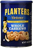 #8: Planters Deluxe Whole Cashews, Lightly Salted, 1 lb 2.25 Ounce Canister