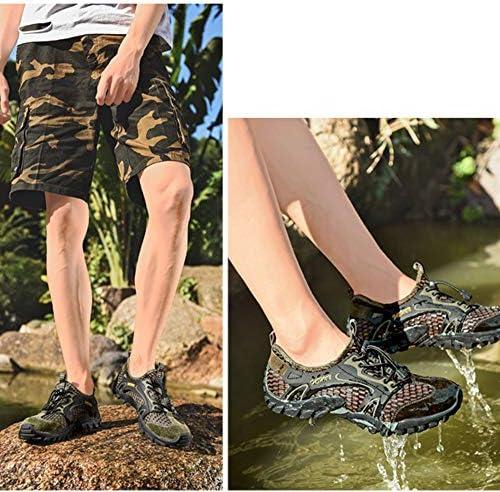 クライミングトレンドスポーツシューズ通気性速乾性の上流の靴ビーチシューズカジュアルシューズ、メンズ屋外メッシュラバー素材 ポータブル (色 : Green, Size : US9.5)