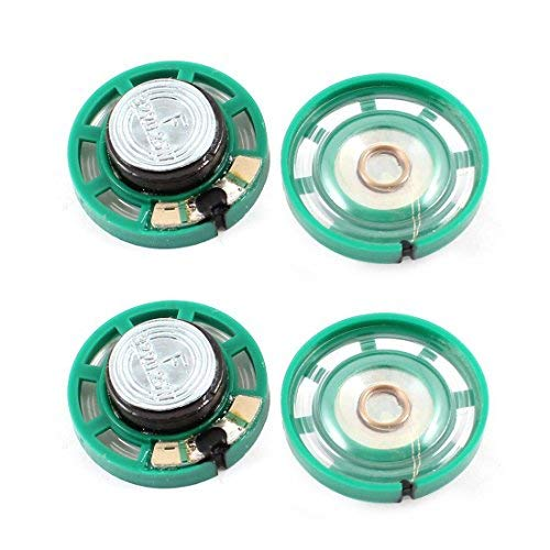TOOGOO(R) 0.25 W 32 Ohm Plastic 4 Magnetic Speaker with 27 mm Diameter Green + Silver