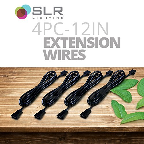 SLR 4pc 12 Inch LED Grow Light Strip Extension Wire Plug Connections