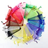 JetkyShop Household 100 pcs/lot Drawable White Small Organza Bags Favor Wedding Bag Jewelry Packaging Bags Pouches