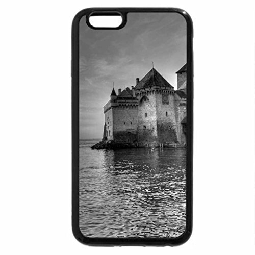 iPhone 6S Case, iPhone 6 Case (Black & White) - Chillon Chateau Sunset