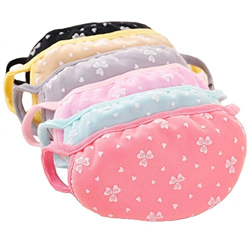Heart Pattern Cotton Cute Lovely Anti-Dust Protective Face Mask Ear Loop Earloop Mouth Mask for Women Lady Girls - Pack of (Girl Dust)
