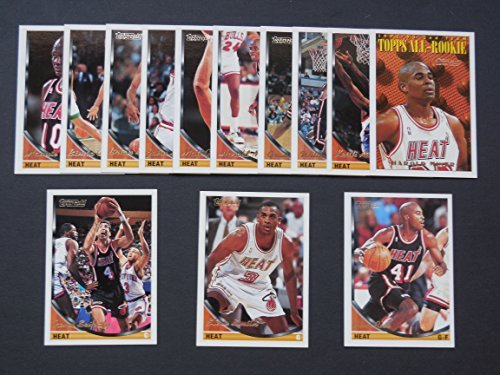 miami-heat-1993-94-topps-high-gloss-gold-parallel-basketball-team-set-players-name-and-topps-logo-in