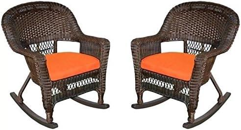 Pemberly Row Rocker Wicker Chair