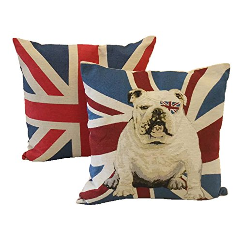 union jack bulldog pillow - 2