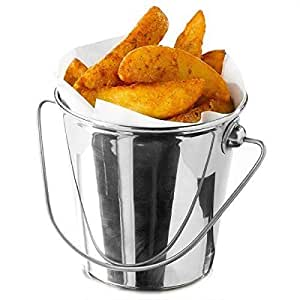 Small Serving Bucket 9Cm - Perfect For Serving Chips Or Fries (Pack of 2)