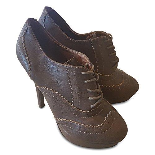 Collection para Material Botas de marrón Sintético mujer KAPRIS BSCqRww