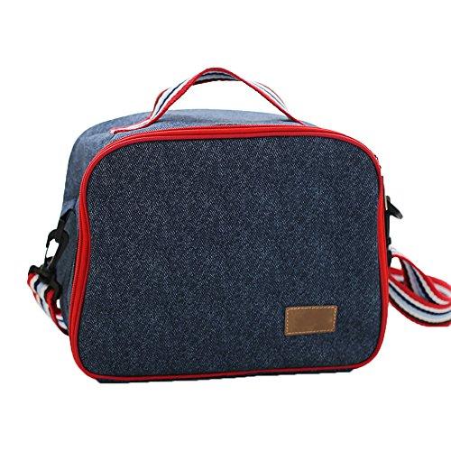 Cowboy Series Insulated Lunch Bag Waterproof Durable storage Cooler Bag For Women/Men/Kids(Rectangle Messenger bag) ()