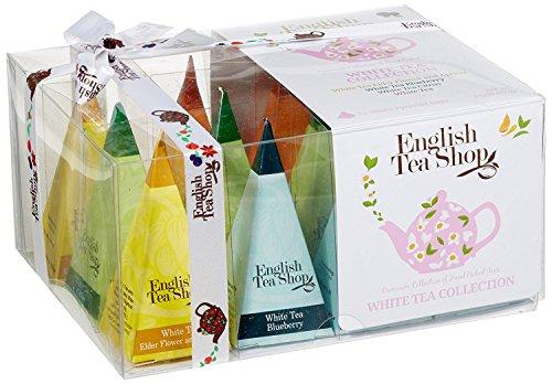 """Teegeschenk """"Weißer Tee Kollektion"""" mit Schleife, 12 Pyramiden-Beutel 4 verschiedenen Geschmacksrichtungen"""