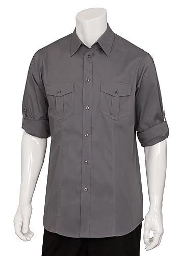 Uniforme obras dpds-gry-m macho piloto camisa, tamaño mediano, color gris: Amazon.es: Industria, empresas y ciencia