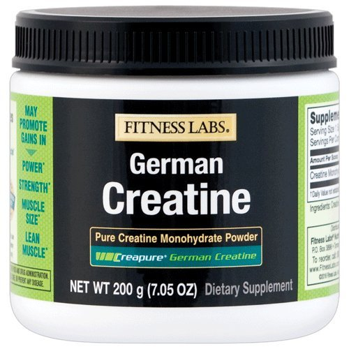 Fitness Labs Creapure German Creatine Powder, 40 Servings, 200 Grams Fitness Health Lab