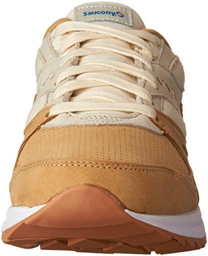 Saucony Mens Grid 8000 Sneaker Tan / Light Tan