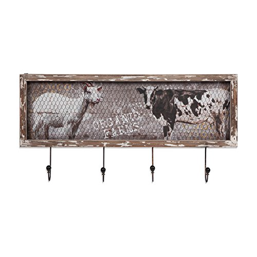 Xing Cheng Home Wall Art Metal Wall Decor With Hook The Goat U0026 Cow Wooden  Decor For Organic Farm