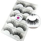 Luxurious 100% Siberian Mink Fur 3D False Eyelash LASGOOS Degisn Natural Messy Volume Fluffy Long Hot Fake Eyelashes 5 Pairs/Box (A11)