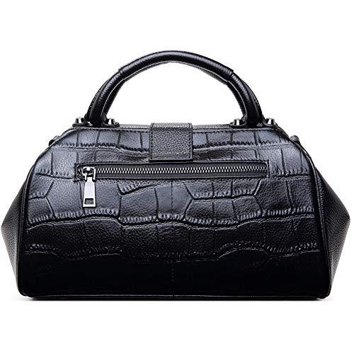 Top Black Lxmhz Cuoio In Viaggi Per Messenger Shopping Lavoro Coccodrillo red Manici Pelle Donne Borse Borsa goffrato vSrAav