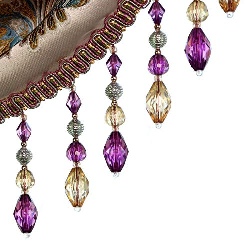 - Crystal Beaded Fringe Trims Sewing Costume Crafts Curtain Cord Tassel