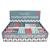 Dovecraft (Trimcraft) Christmas Craft Ribbon Spools - Modern - Full Box