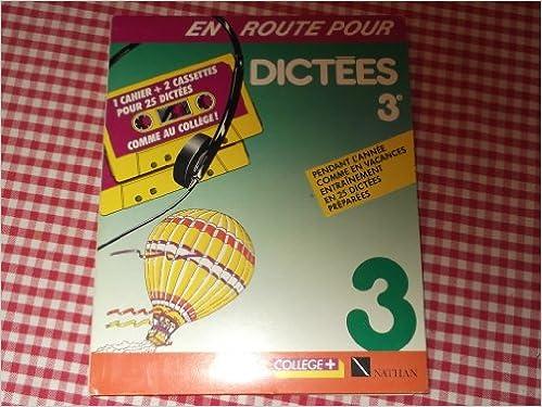 Livres gratuits EN ROUTE 3EME DICTEES. Avec cassette pdf