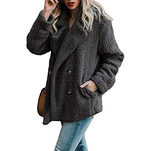 HOSOME Women Coat Jacket Winter Warm Parka Outwear Casual Ladies Outercoat - Sweater Misses Acrylic