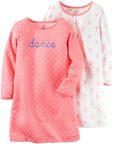 Carter's Girls 2 Pk Gown Poly, Print, 2T