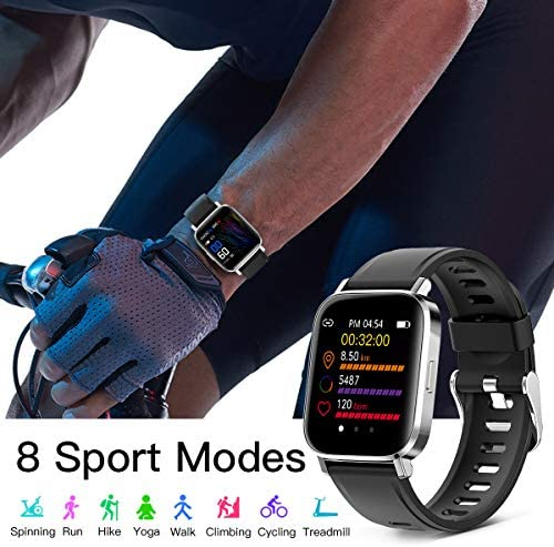 RUNDOING Smart Watch for Men Women,1.54″ Fitness Tracker iP68 Waterproof Watch with Heart Rate Monitor, Calorie Counter,Pedometer Smartwatch Compatible for Android Phones iPhone 51I 2BpZlGm2L