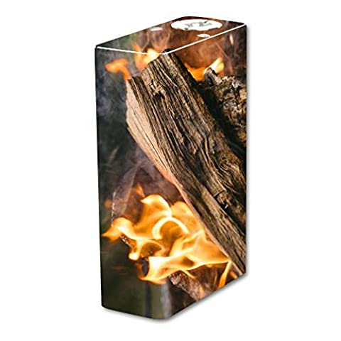 Tesla Two Vape E-Cig Mod Box Vinyl DECAL STICKER Skin Wrap / Sticker Skin Print Fierce Blazing Flames Burning Printed (Cool Fire 2 Vape Mod)