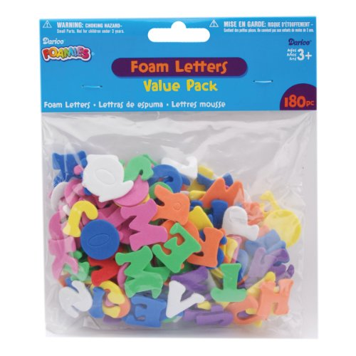 Foam Shapes 180/Pkg, Alphabet