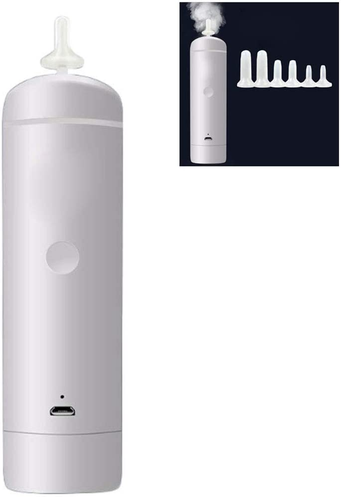HS-ZM-01 Aspirador Nasal para bebés, Aspirador Nasal eléctrico Humidificación Suavizado Limpieza Limpieza la Nariz Boquilla de succión reemplazable Lechón Adecuado Recién Nacido Niño pequeño Bebé: Amazon.es: Hogar
