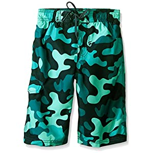 Kanu Surf Boys' Big Specter Quick Dry UPF 50+ Beach Swim Trunk