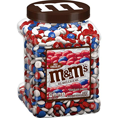 M&M's Red, White & Blue Mix Milk Chocolate Candy Value Pack, 62 oz. ( 1 PACK )