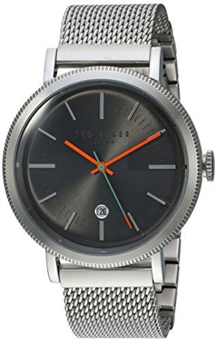 Ted Baker Men's Connor Japanese-Quartz Watch with Stainless-Steel Strap, Silver, 19 (Model: 10031512