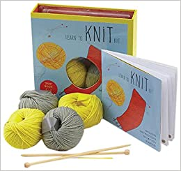 Learn To Knit Kit Includes Needles And Yarn For Practice And For