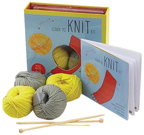 - Learn to Knit Kit: Includes Needles and Yarn for Practice and for Making Your First Scarf-featuring a 32-page book with instructions and a project (First Time)